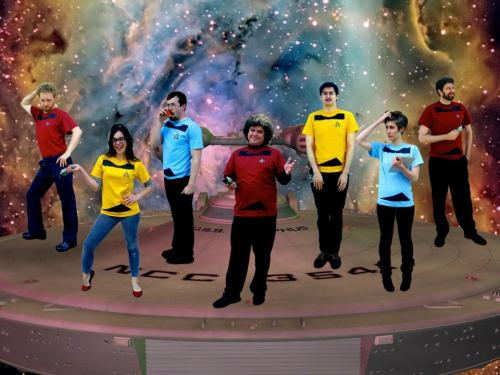 Tonight at midnight at iO! The Improvised Star Trek live show. Come geek out and have a drink with us. $5