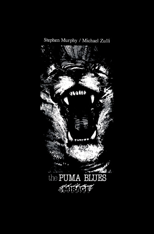 Promotional ad for The Puma Blues by Stephen Murphy and Michael Zulli, 1990.
