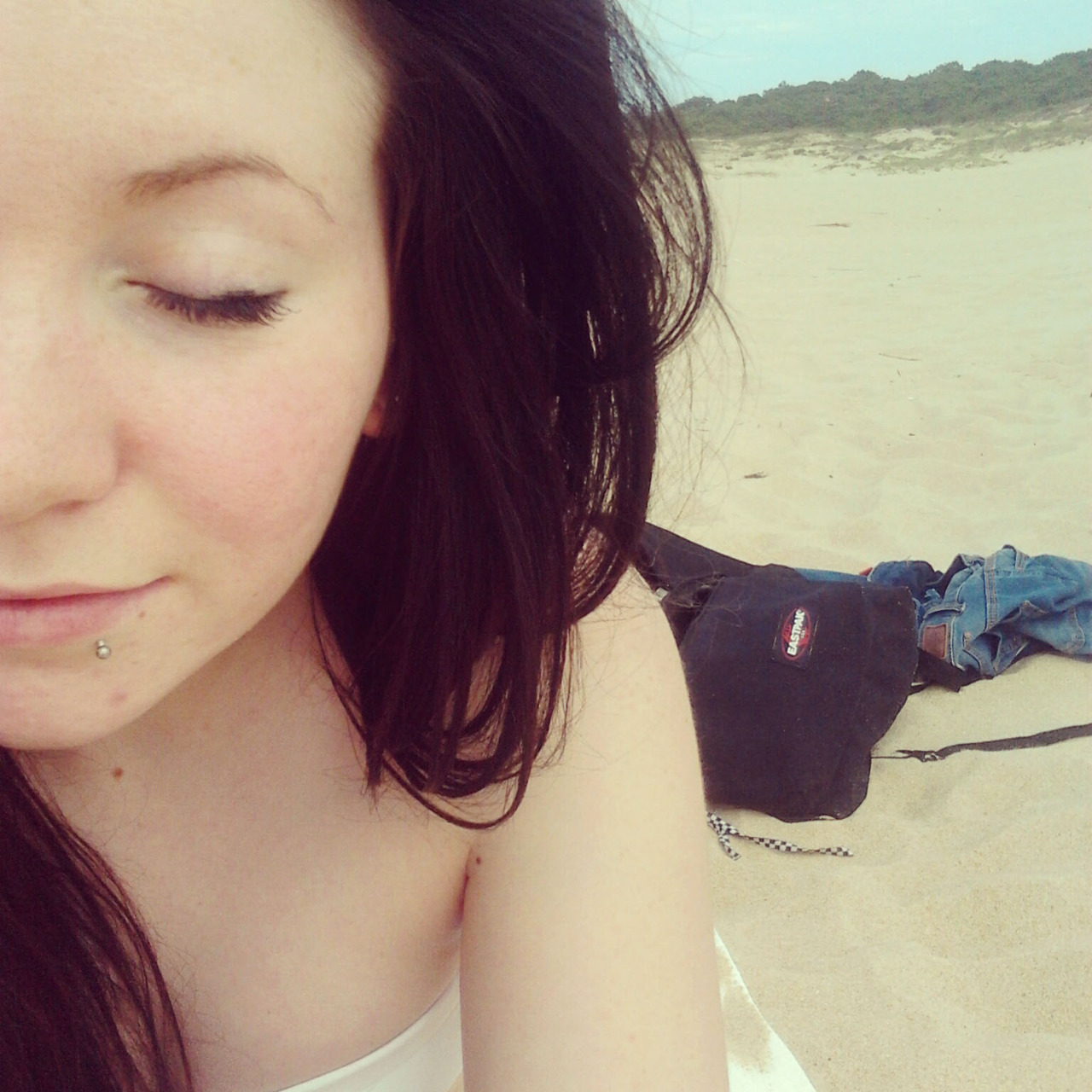 photos from the beach today :3 first of the year