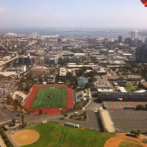 Sdhs from the skyyyy #sandiego #sdhs #nofilter (Taken with instagram)