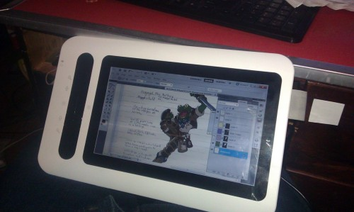 "Also i got a new Yiyova 10.1"" digitizer display. an awesome and cheap tablet but a bitch and two thirds to install. but now its working. good deal for 300 bucks."