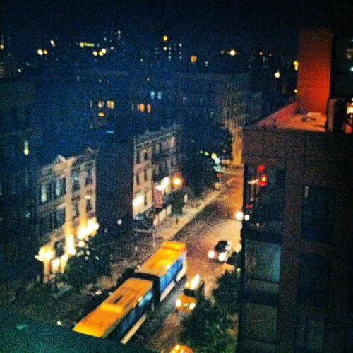 Gorgeous night. Rooftop chillin. #nyc #street #city #rooftop #uptown #view #igaddict #instagrammers (Taken with instagram)
