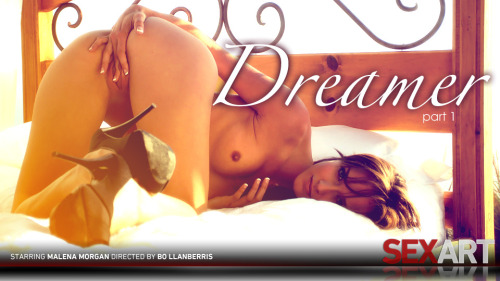 Enter the mind of Malena Morgan as she shares a lucid dream with us. In her dream, she appears on a bed atop a bluff overlooking the ocean. Here she is a goddess, where no one else matters or even exists. Here Malena can explore her own body and bring her to levels of climax that would make anyone cum where they stand. ONLY AT SEXART.COM