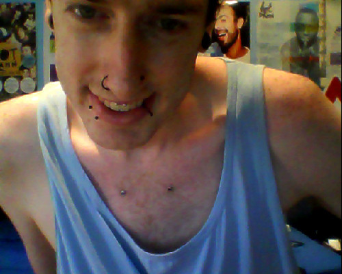 new piercing combination. not symmetrical