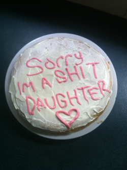 weakest:  Made my mama a cake. happy mothers day xxx