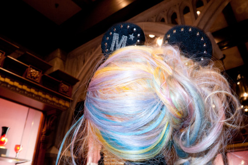 terrysdiary:  Gaga at Disneyland with mouse ears on.