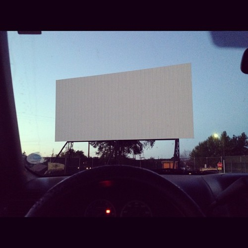 Drive-ins. Haven't been here in 3 years. 🎬🚙 (Taken with instagram)