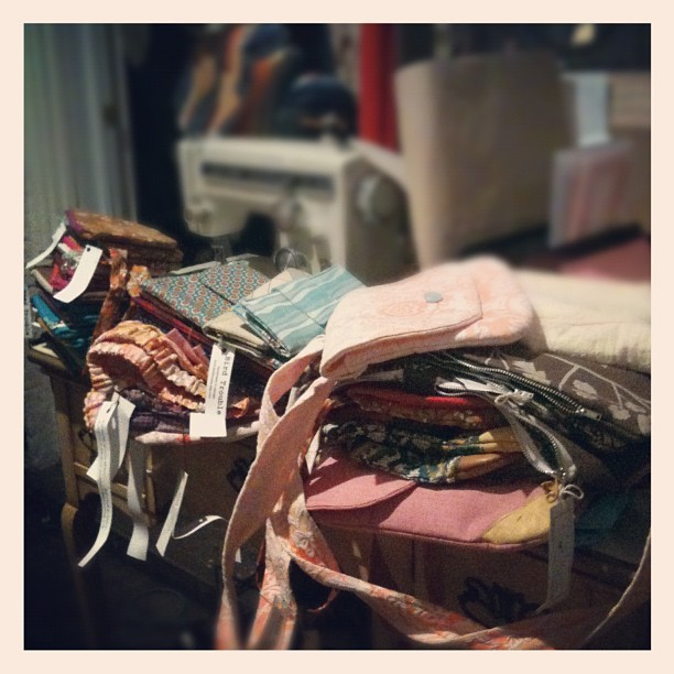 Inventory puked all over my craft table. Time to organize. (Taken with instagram)