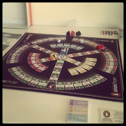 Penguin Bookchase! What an excellent game :D (Taken with instagram)