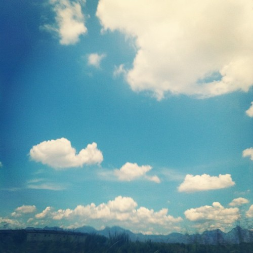 The sky looks beautiful. :) #sky #clouds #blue #nature #beauty #beautiful #instagood #instadaily #instagram #igers #igersph #webstagram  (Taken with instagram)