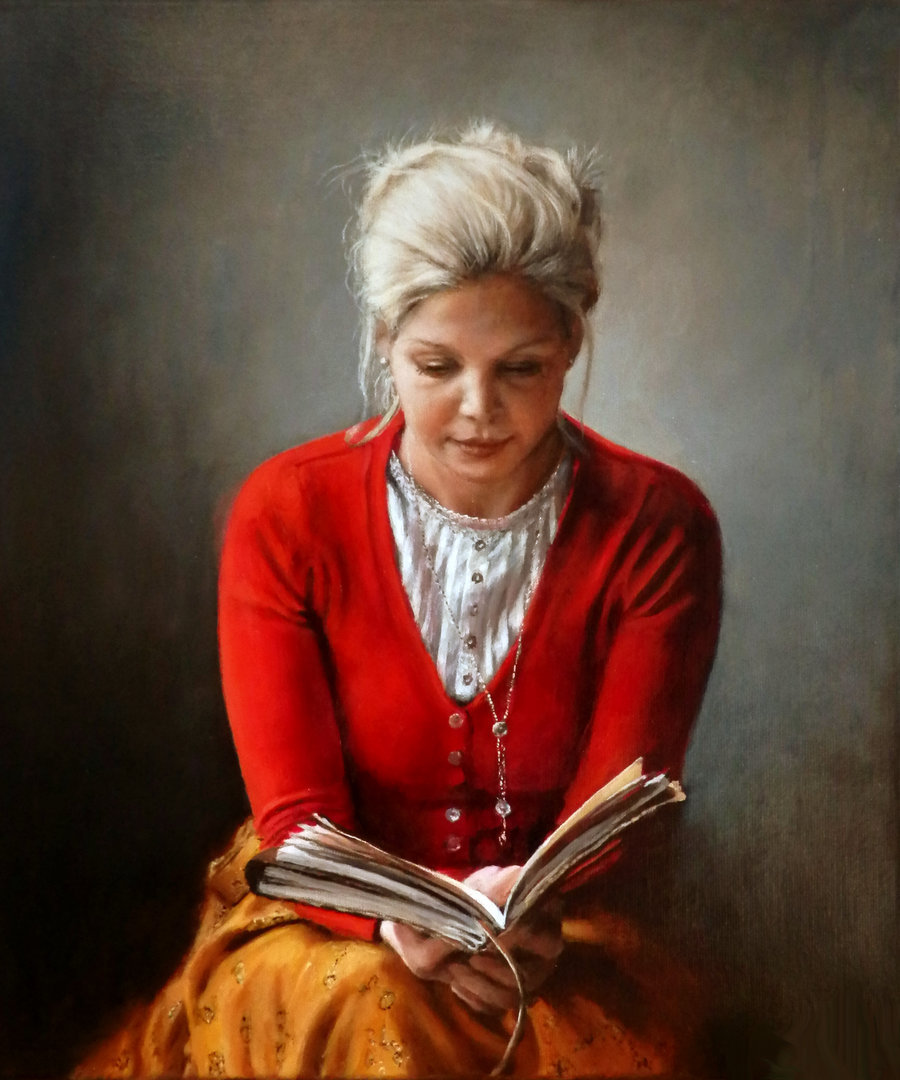 Woman reading a book by ~ranonus