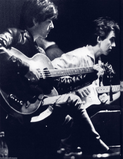 Stu and George at the Top Ten Club, Hamburg, 1961