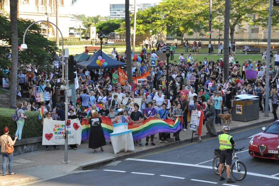 snapshot of the turn-out for yesterday's equality rally.