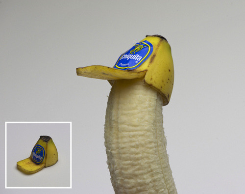 (via Super Punch: Banana Peel Trucker Hat)  Banana Peel Trucker Hat by Brock Davis, who has all sorts of tees on sale here.
