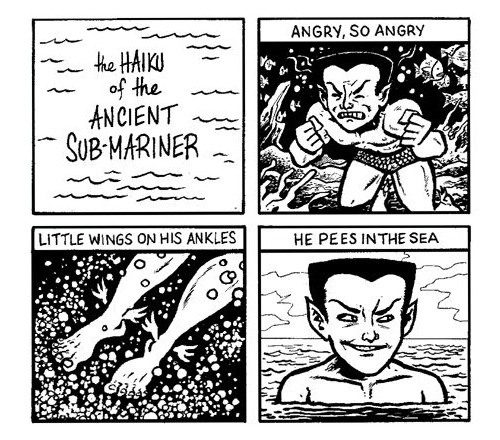 jesic:  Namor by Evan Dorkin   Wat
