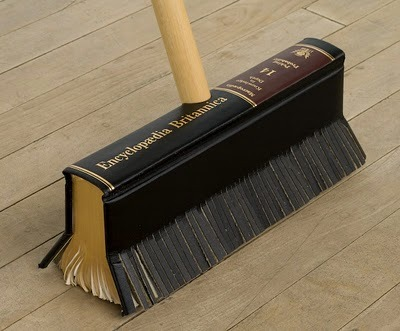 Encyclopedia push broom #bookart