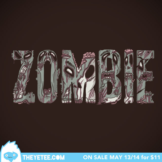 theyetee:  Zombies by Josh Mirman Make sure you swing by our Facebook page to enter to win a free shirt!