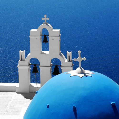 andycoco:  Santorini Blues by MarcelGermain on Flickr.