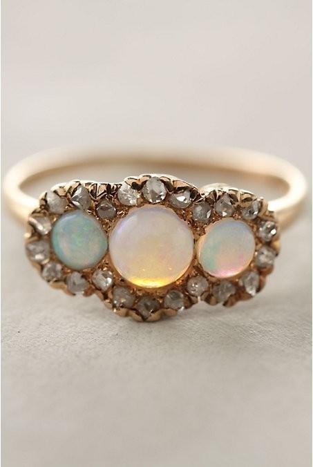 opal unique ring