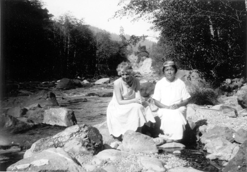 "My great great grandmother Nellie, on the right. This picture is actually available in a book, ""Yurok-Karuk Basket Weavers"" by Lila O'Neale. So glad that my cousin sent me this photo for many reasons, one being I have never seen a younger picture of her before. :)"