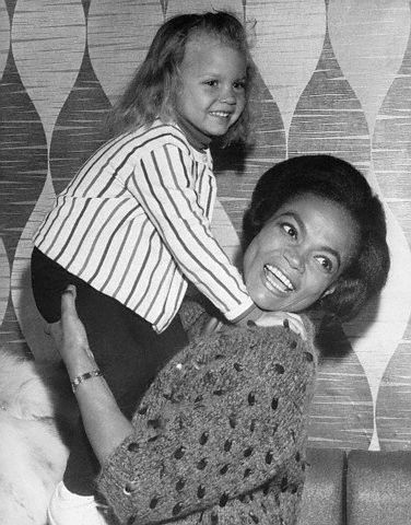 "Eartha Kitt and her daughter Kitt McDonald in London in 1965. I had the pleasure of meeting Ms. Kitt and her daughter in 2001 when Ms. Kitt played the Fairy Godmother in ""Cinderella"" on Broadway and, I have to say, the mutual adoration was adorable. Photo: Bettman/Corbis"