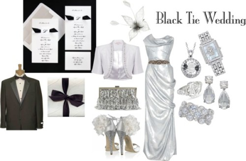 Black Tie Ready Guest by synergy-by-design featuring metallic handbagsVivienne Westwood Gold Label evening gowns dress, $4,520Jacques Vert short jacket, £139Brian Atwood embellished sandals, $1,032Jessica McClintock metallic handbag, $55Diamond jewelryJewelryEarrings, $191Necklace, $20Wedding jewelryCrystal Sash, $400Cream feather fascinator, $17