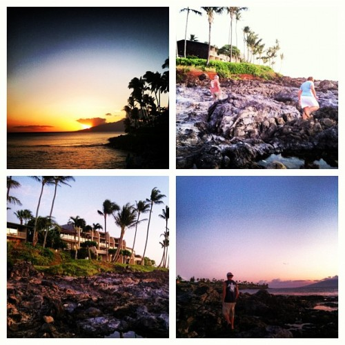 #sunset #vacation #hawaii  (Taken with Instagram at Napili Beach)