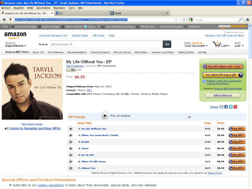 "@tarylljackson EP ""My Life Without You"" is now available on Amazon! Support Taryll's solo debut and purchase the album now!"
