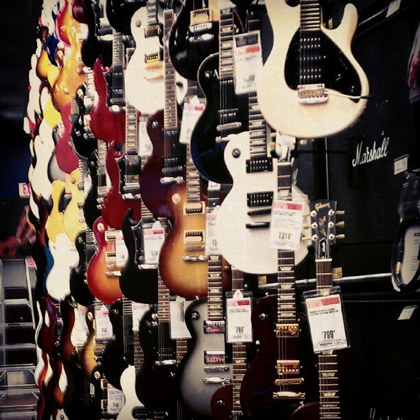 Day 12- something that makes you happy- guitars :) #photoadaymay #guitar #guitarcenter  (Taken with instagram)