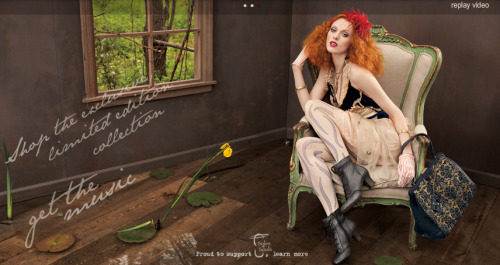 NINE WEST Boudoir Queen Karen Elson American Vintage Collection Styled by Lori Goldstein