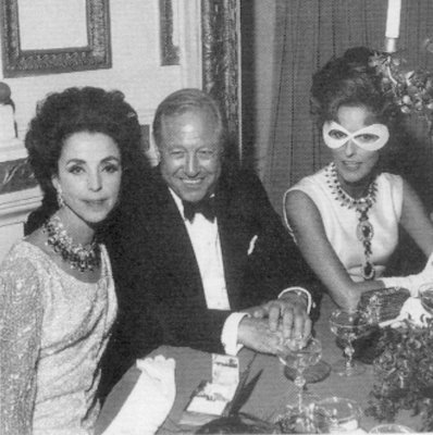 Gloria Guinness, Bill and Babe Paley at the Truman Capote's Black and White Ball, 1966