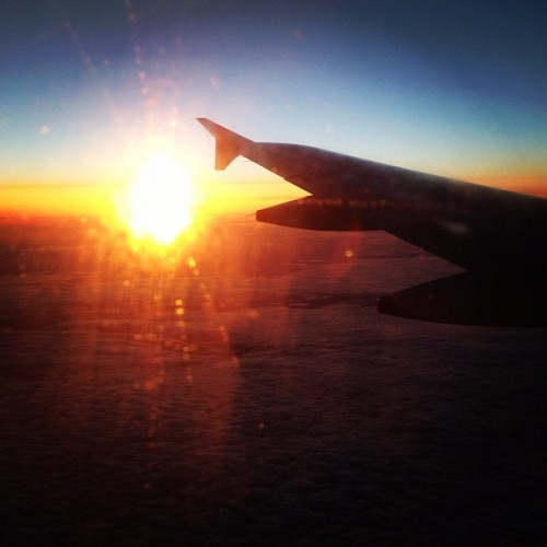 Sunset from above (Taken with Instagram at Somewhere over the north sea…)