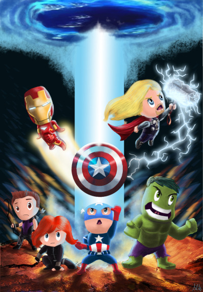 immortalendeavor:  Avengers! -Saw the movie about 3 days ago and just had to come up with some sort of tribute to the movie haha, it was amazing!