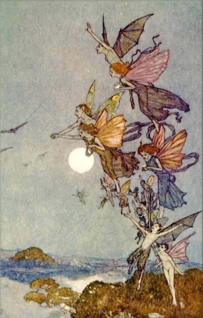 Edmund Dulac painted illustration