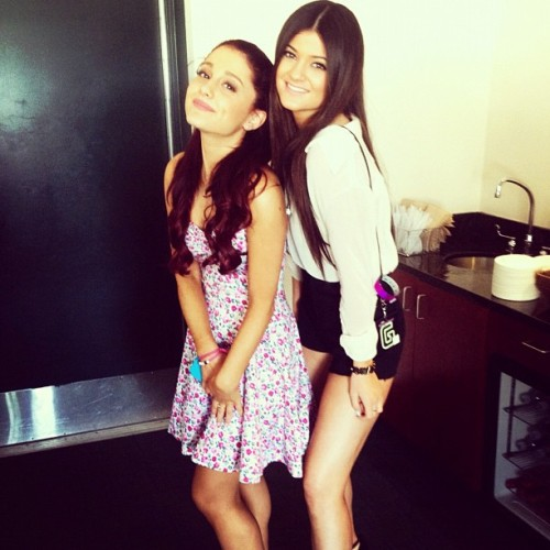 A Picture of Ariana Grande and Kylie Jenner last Night at Wango Tango