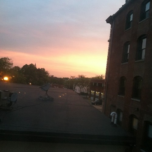 #sunrise over #allston  (Taken with instagram)