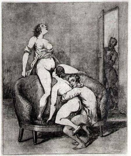"Francisco José de Goya ""Caught in the act"""