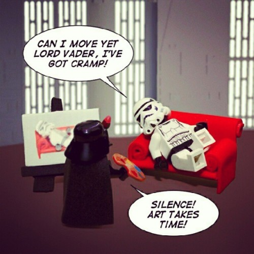 #Darth has a new hobby. #lego #darthvader #stormtrooper #starwars #toys #toyphotography  (Taken with Instagram at SIMpixels Photography)