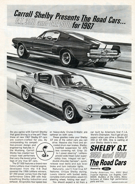 1967 Shelby Mustang GT350 and GT500   by coconv on Flickr.1967 Shelby Mustang GT350 and GT500