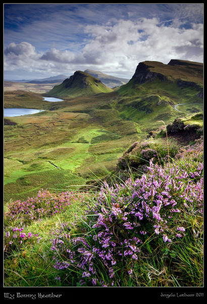 landscapelifescape:  The Quiraing , Isle of Skye , Scotland Scotland: My Bonnie Heather by ArwensGrace