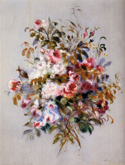 vangoghs-left-ear:  Bouquet of Roses by Pierre-August Renoir 1879