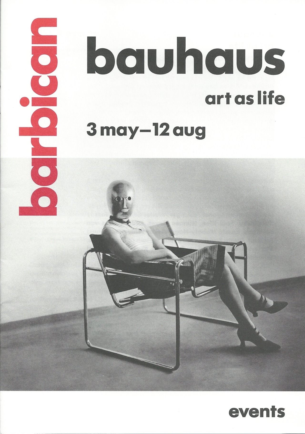 Bauhaus art as life exhibition at the Barbican.  information Booklets front page.