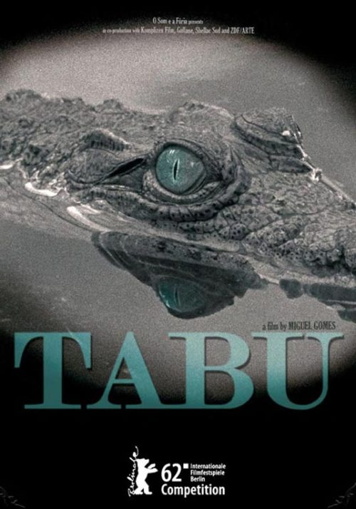 "190. TABU (dir. Miguel Gomes, 2012) (Hong Kong International Film Festival) I had no prior knowledge of writer-director Miguel Gomes or his work going into this film, save for hearing that this was one of the most highly-praised yet divisive films of this year's Berlin International Film Festival. Apparently references are made to F.W. Murnau's film of the same name, but having not seen that film they were all but lost on me, save for the fact both films deal with the impact of colonial life and are split into two sections, entitled ""Paradise"" and ""Paradise Lost"" (although the segments are named the other way around in Gomes' film). The film is a portrait of an elderly dame, Aurora (Laura Soveral), living a hermit's lifestyle in her Lisbon apartment, with only her maid and a nosy neighbour aware of her existence. When she passes away, her two female acquaintances learn about her exotic and romantic life, living in the colonies of Africa and her torrid love affair with a young hunter. Frankly the magic of this film was somewhat lost on me, told through extended flashbacks with recounted dialogue, the film had a Wes Anderson-esque air of pastiche and whimsy that I'm not entirely sure was intentional. Much of it felt like ""Steve Zissou's African Adventure"" and only the plight of Aurora's underused pet crocodile held my interest."
