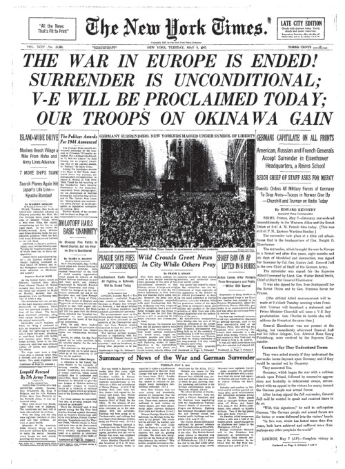 The New York Times - May 8, 1945