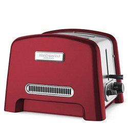 Artisan retro style, two slice toaster in empire red by Kitchen Aid. Can be found here