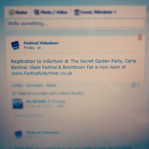 #festival #volunteer #glade #sgc #secretgardenparty #campbestival #boomtownfair register at www.FestivalVolunteer.co.uk (Taken with instagram)