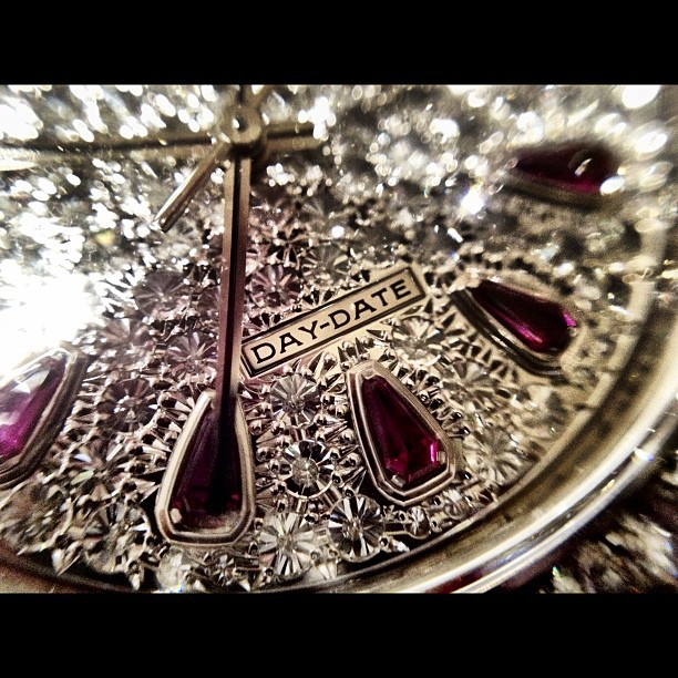 #Ruby #Diamond - #Watch #iphone #4s #macro #awesome #day #date #time (Taken with instagram)