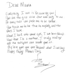 """DEAR MAMA"" A Mama's Day wish from Bey to Miss T."
