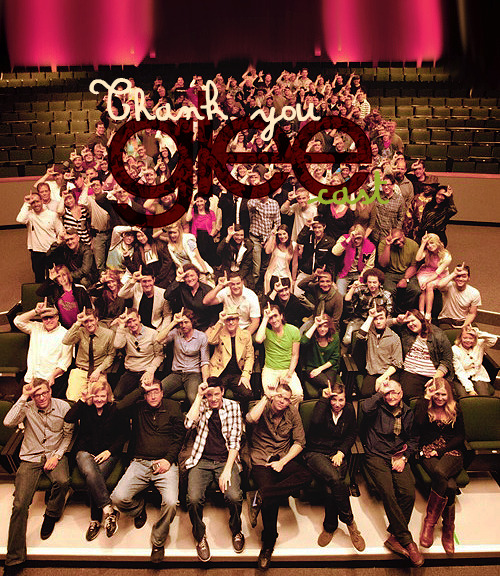 Thank you Glee cast!