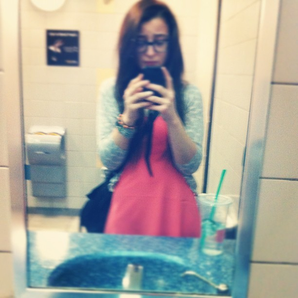#wiwt #me #mothersday #pink #polkadots #sbx #mirrorpic (Taken with instagram)